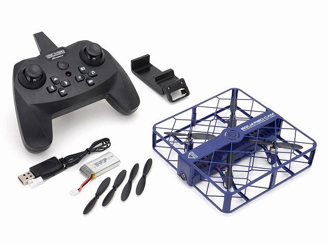 【送料無料】 ドローン カメラ付き 気圧センサー搭載 SQUARED CAM (Blue) スクアードカム ブルー GB050