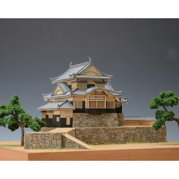 【送料無料】 ウッディジョー 木製建築模型 1/150 備中松山城 レーザーカット加工