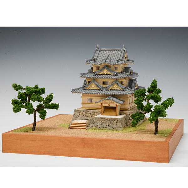【送料無料】 ウッディジョー 木製建築模型 1/150 宇和島城 レーザーカット加工