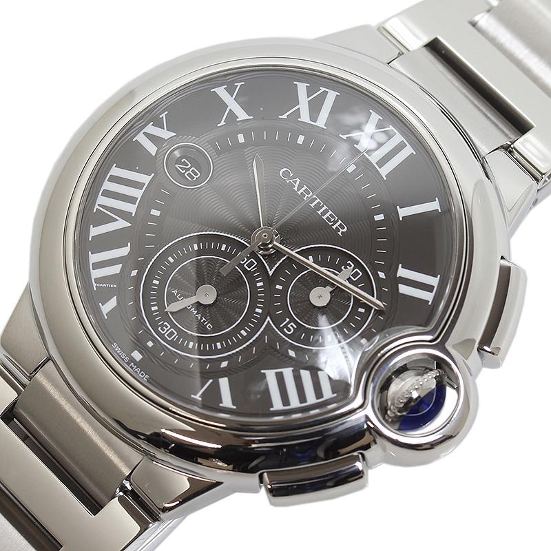 カルティエ Cartier バロンブルー クロノグラフXL W6920025 自動巻き メンズ 腕時計【中古】