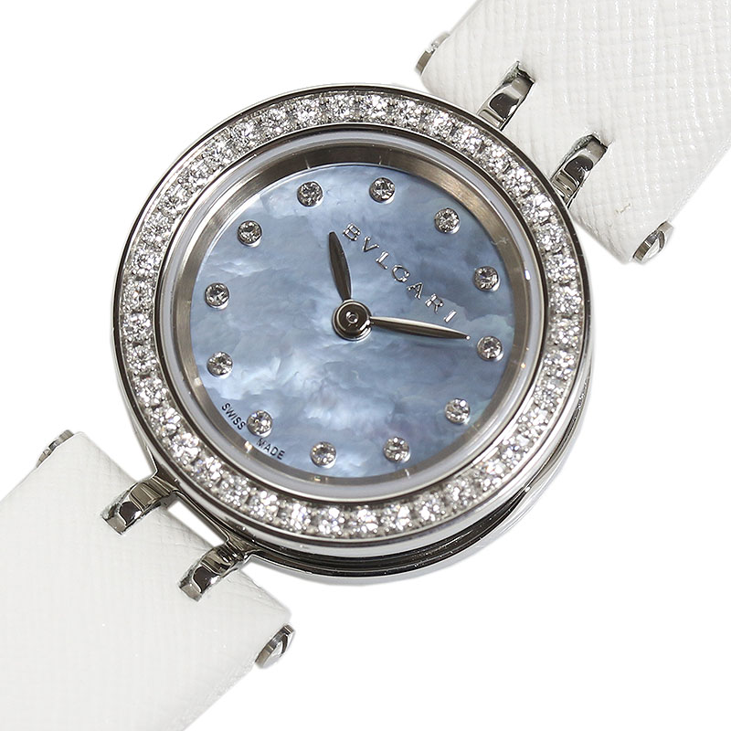 ブルガリ BVLGARI B-ZERO1 ダイヤベゼル BZ23S クオーツ レディース 腕時計【中古】