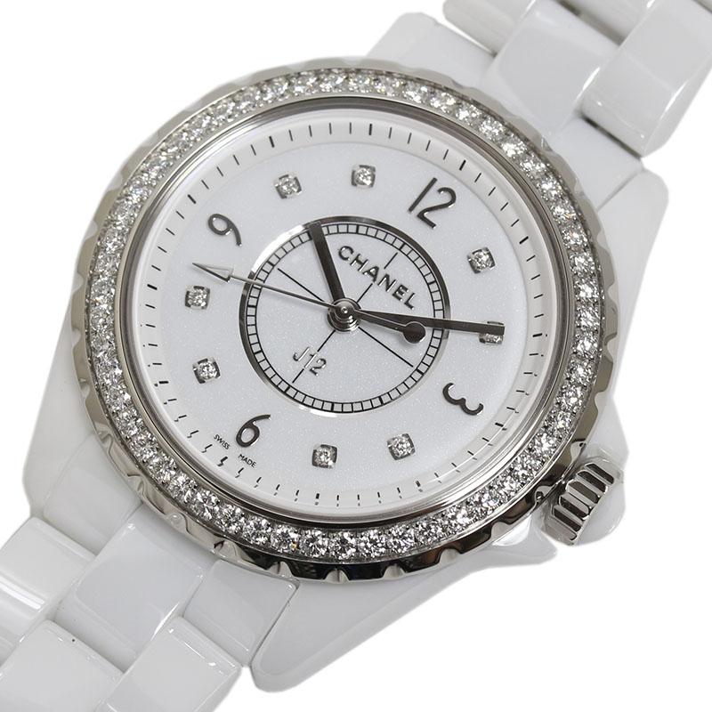 シャネル CHANEL J12 ダイヤベゼル H3110 クオーツ レディース 腕時計【中古】