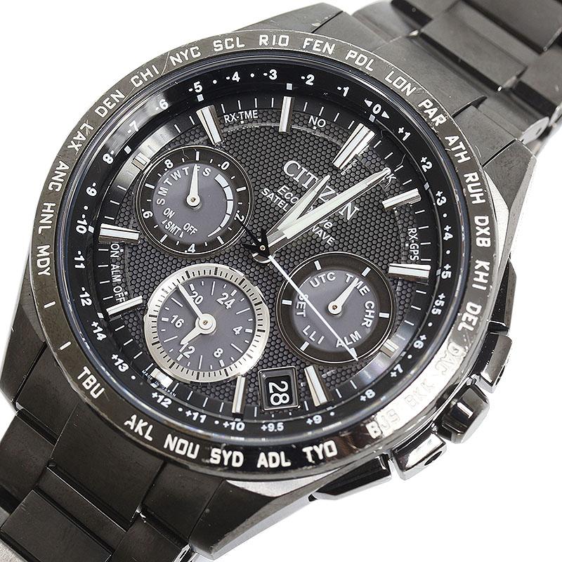シチズン CITIZEN アテッサ エコドライブ GPS衛星電波時計 F900-T021557 クオーツ メンズ 腕時計【中古】
