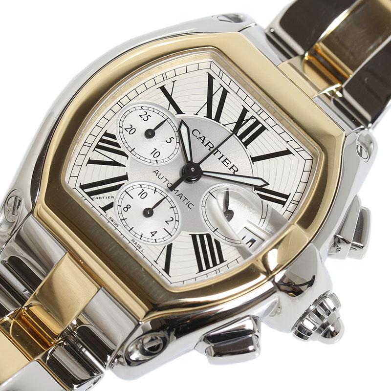 カルティエ Cartier ロードスター クロノグラフ W62027Z1 自動巻き YG/SS メンズ 腕時計【中古】