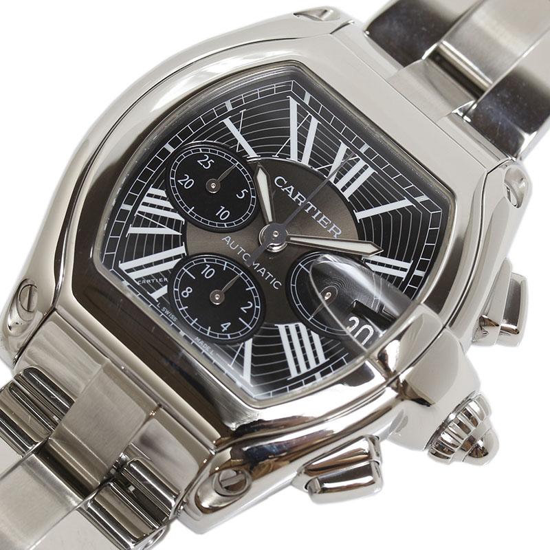 カルティエ Cartier ロードスタークロノグラフ W62007X6 自動巻き メンズ 腕時計【中古】