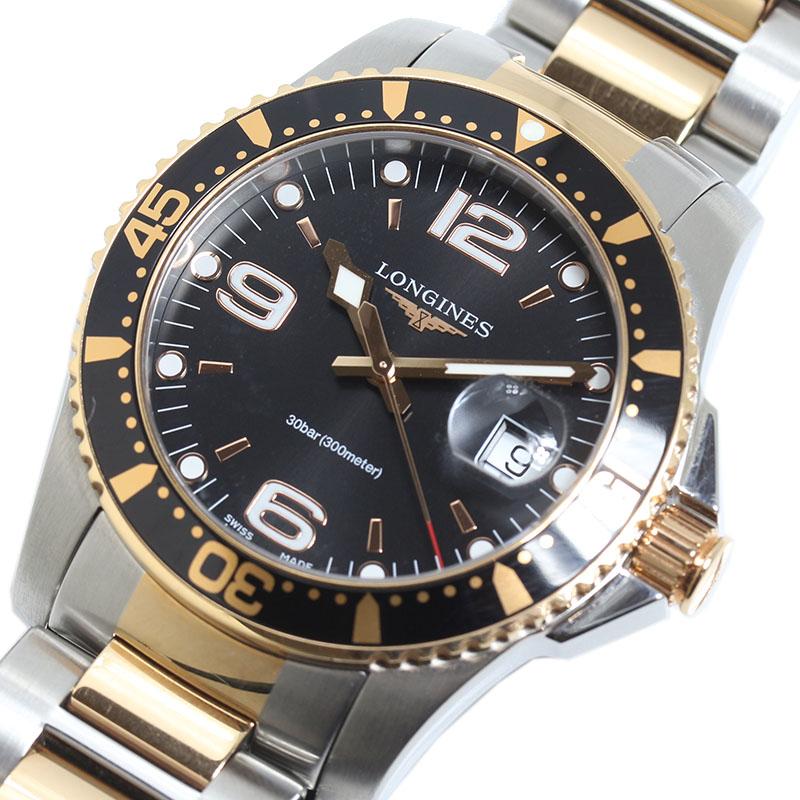 ロンジン LONGINES ハイドロコンクエスト L3.740.3.58.7 クオーツ メンズ 腕時計【中古】