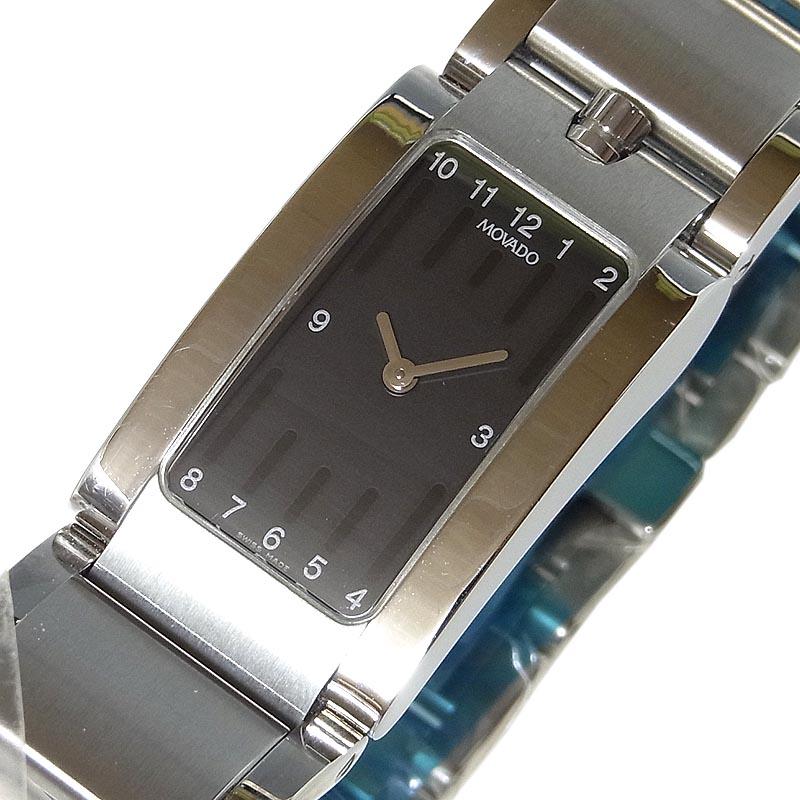 モバード MOVADO エリプティカ E43.112.H5S クオーツ ユニセックス 腕時計【中古】