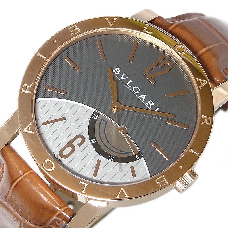 ブルガリ BVLGARI ブルガリ ブルガリ パワーリザーブ BBP41GL 自動巻き メンズ 腕時計【中古】