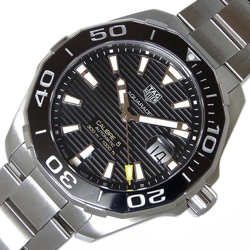 タグ・ホイヤー TAG HEUER アクアレーサー WAY201A 自動巻き メンズ 腕時計【中古】