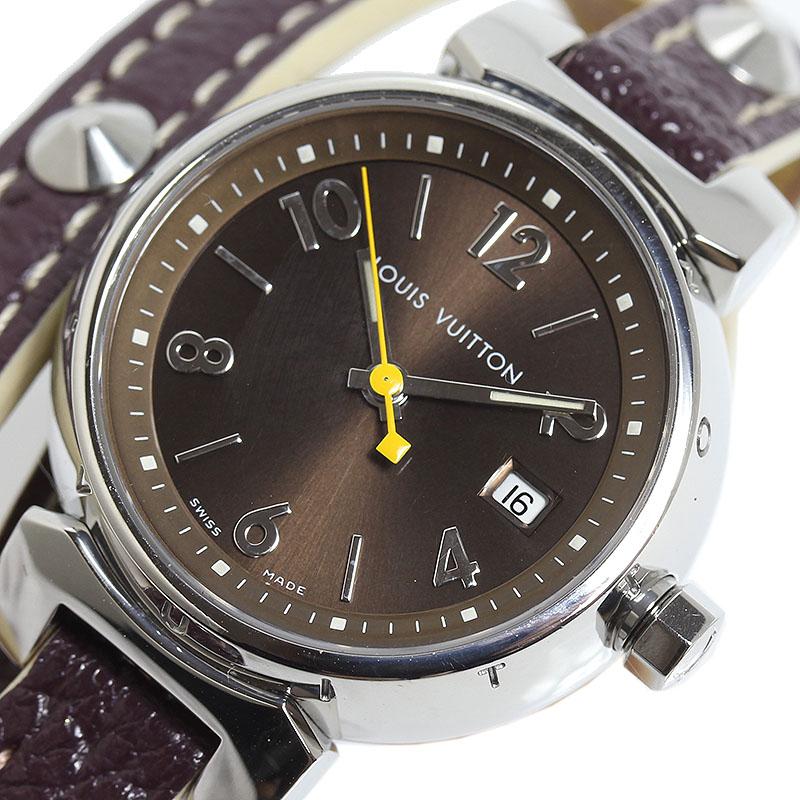 ルイ・ヴィトン LOUIS VUITTON タンブール トリプルコイルド Q1211 クオーツ レディース 腕時計【中古】