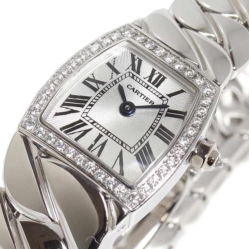 カルティエ Cartier ミニラドーニャ WE60085G WG無垢 ダイヤベゼル クオーツ レディース 腕時計【中古】
