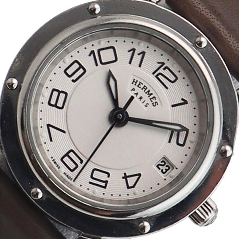 エルメス HERMES クリッパークラシック クオーツ レディース 腕時計【中古】