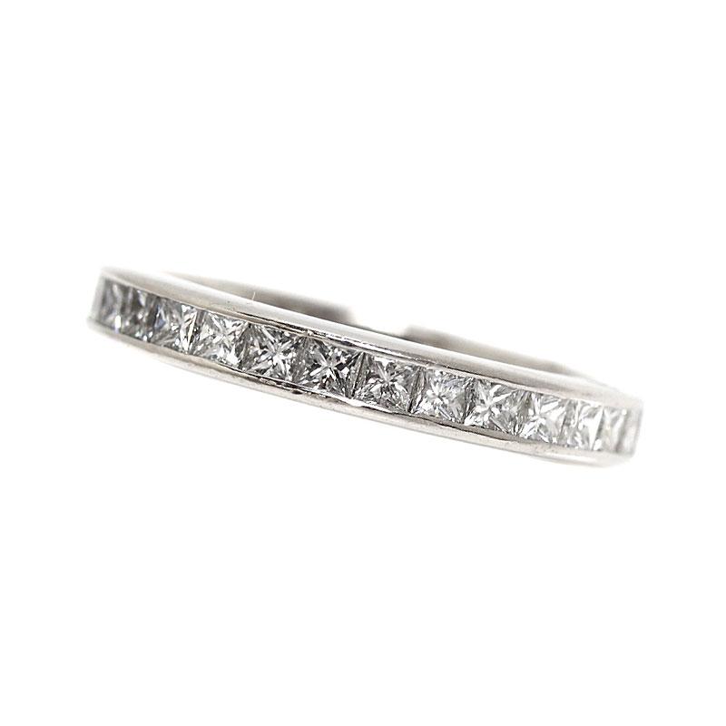 ハリーウィンストン HARRY WINSTON フルエタニティリング プラチナ ダイヤモンド プリンセスカット 指輪 ジュエリー【中古】