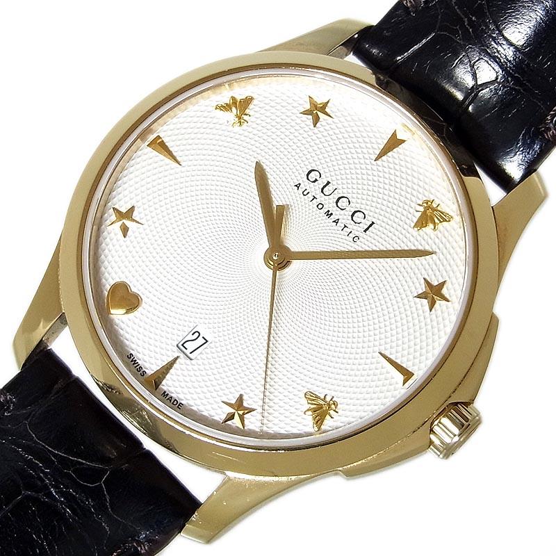 グッチ 腕時計 ついに再販開始 メンズ 送料無料 GUCCI Gタイムレス 126.4 ブランド品 自動巻き YA126468 中古