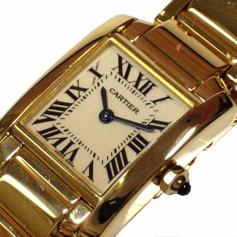 カルティエ Cartier タンクフランセーズ W50002N2 クオーツ レディース 腕時計【中古】