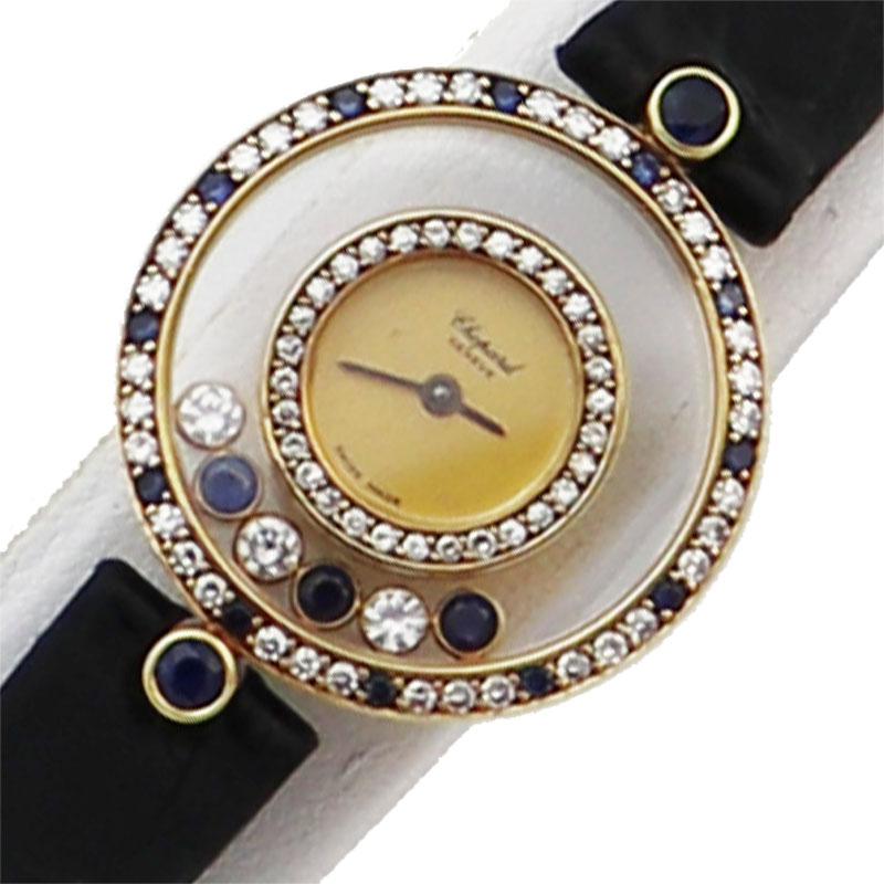ショパール Chopard ハッピーダイヤモンド 金無垢 20/4191-23 クオーツ レディース 腕時計【中古】
