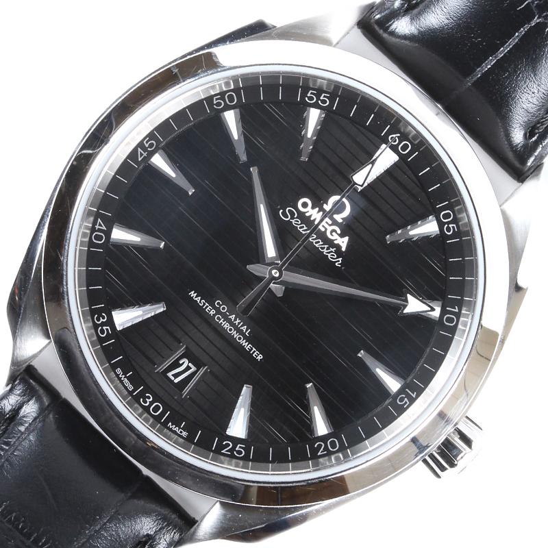 オメガ 腕時計 メンズ 送料無料 OMEGA シーマスター 220.13.41.21.01.001 マスタークロノメーター 自動巻き 中古 数量は多 メイルオーダー アクアテラ
