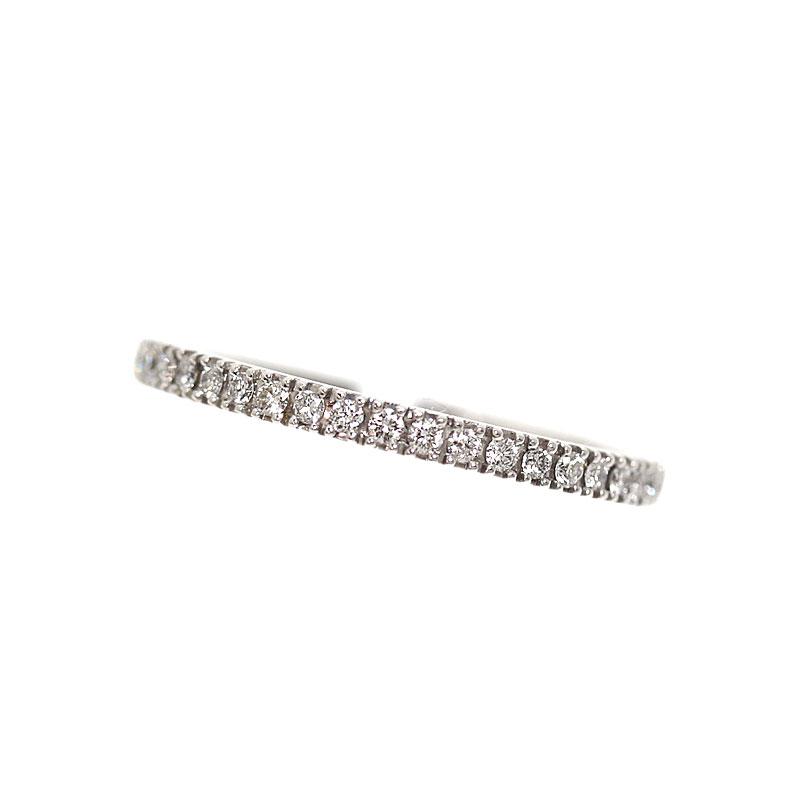 ベルシオラ BELLESIORA ハーフエタニティ リング K18WG ダイヤモンド 指輪 レディース 約9号 ジュエリー アクセサリー【中古】