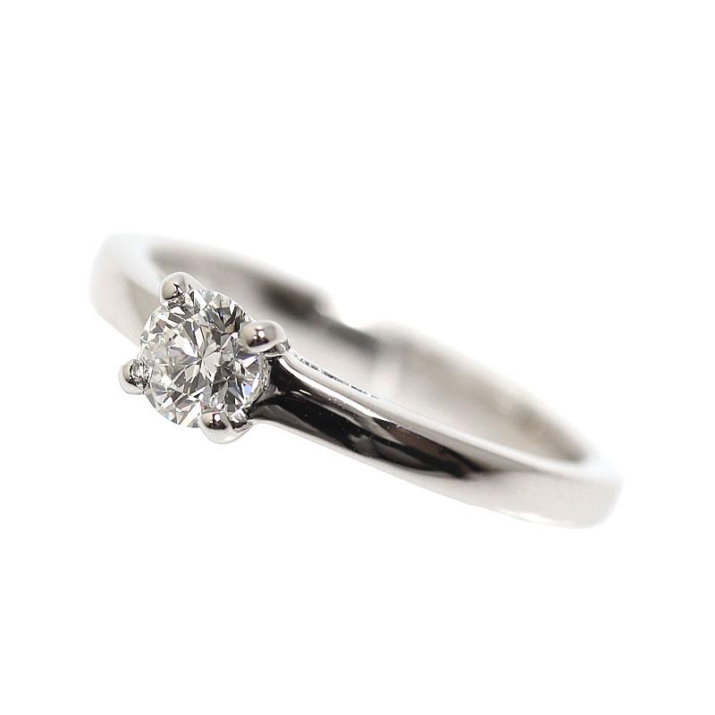 ブルガリ BVLGARI グリフ ソリテール リング プラチナ ダイヤモンド 指輪 レディース ジュエリー アクセサリー【中古】