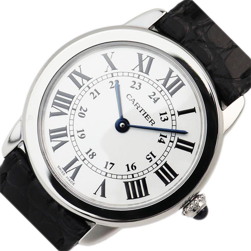 カルティエ Cartier ロンド ソロ ドゥ カルティエ SM W6700155 クオーツ レディース 腕時計【中古】