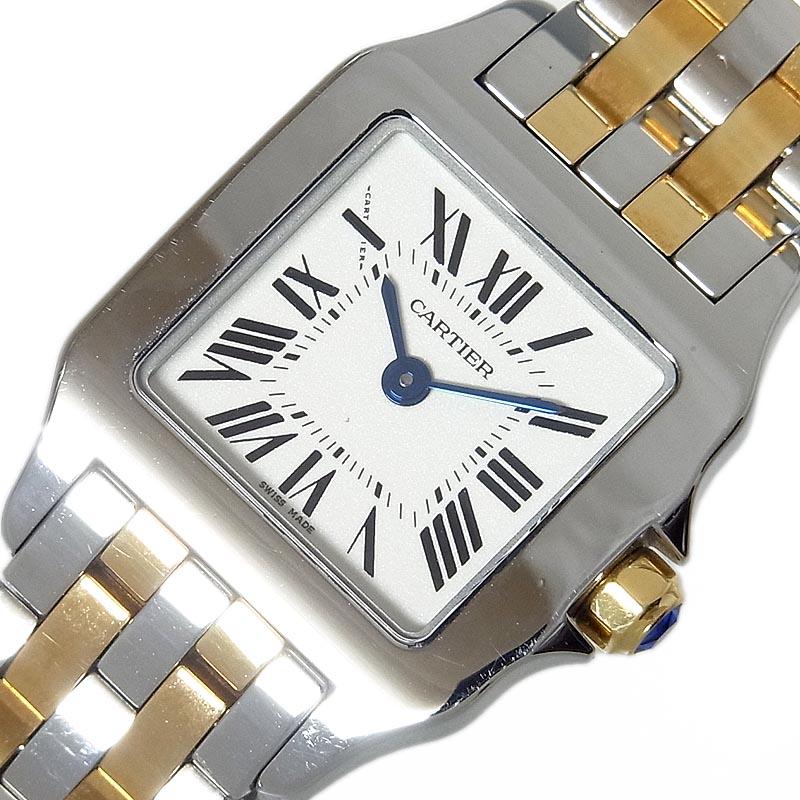 カルティエ Cartier サントスドゥモワゼルSM W25066Z6 クオーツ レディース 腕時計【中古】