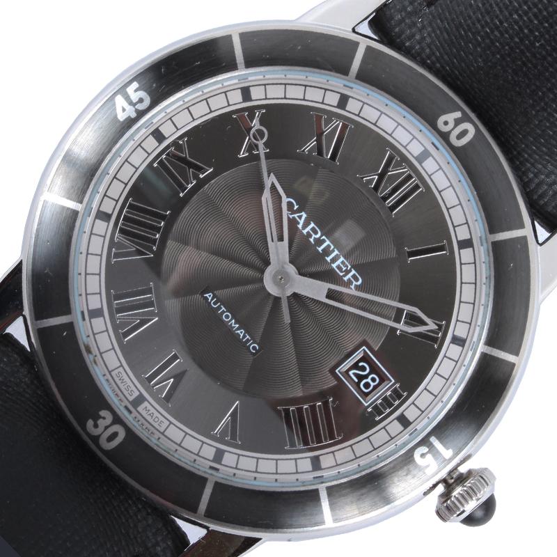カルティエ Cartier ロンドクロワジェール WSRN0003 自動巻き メンズ 腕時計【中古】