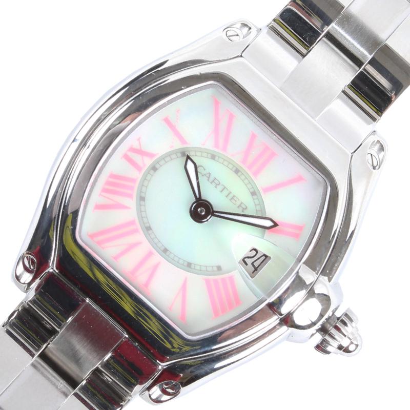 カルティエ Cartier ロードスターSM 2008年クリスマス限定 W6206006 クオーツ レディース 腕時計【中古】