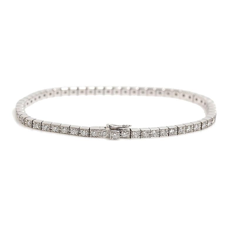 カルティエ Cartier ラニエール ブレスレット K18WG ダイヤモンド レディース 16 ジュエリー アクセサリー【中古】