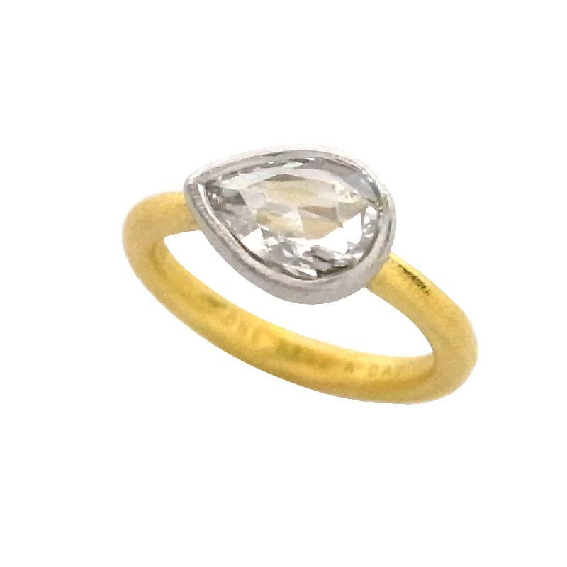 ハム hum ダイヤモンドリング K18YG プラチナ 指輪 レディース ジュエリー アクセサリー 【中古】