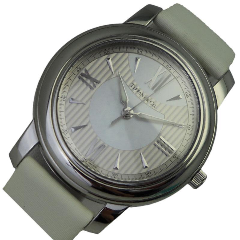 ティファニー 腕時計 レディース 出色 送料無料 TIFFANY 全品送料無料 マ-クラウンド Z0046.17.10A91 クオーツ CO 中古