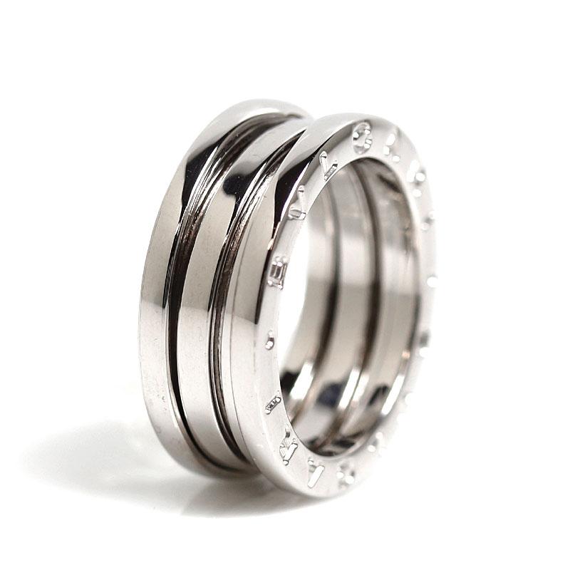 ブルガリ BVLGARI B.ZERO1 リング K18WG ビーゼロワン 指輪 レディース ジュエリー アクセサリー【中古】