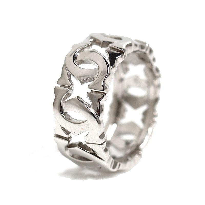 カルティエ Cartier アントルラセ リング K18WG 指輪 レディース ジュエリー アクセサリー【中古】