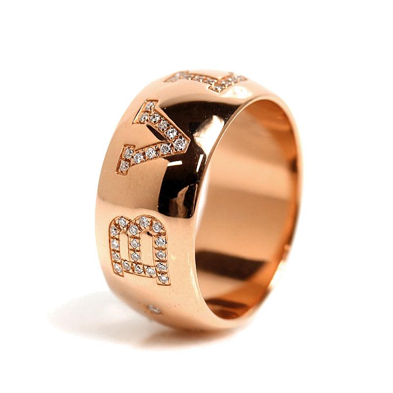 ブルガリ BVLGARI モノロゴリング K18PG ビーゼロワン ダイヤモンド 指輪 メンズ 58 ジュエリー アクセサリー【中古】