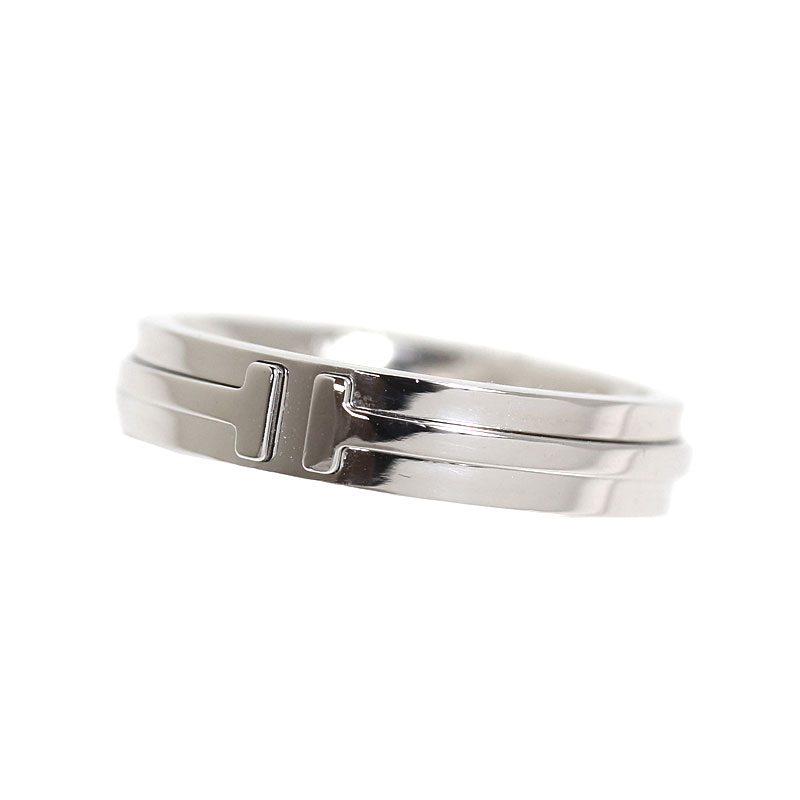 ティファニー TIFFANY&CO ティファニーT ツーナロー リング K18WG 指輪 ジュエリー アクセサリー【中古】