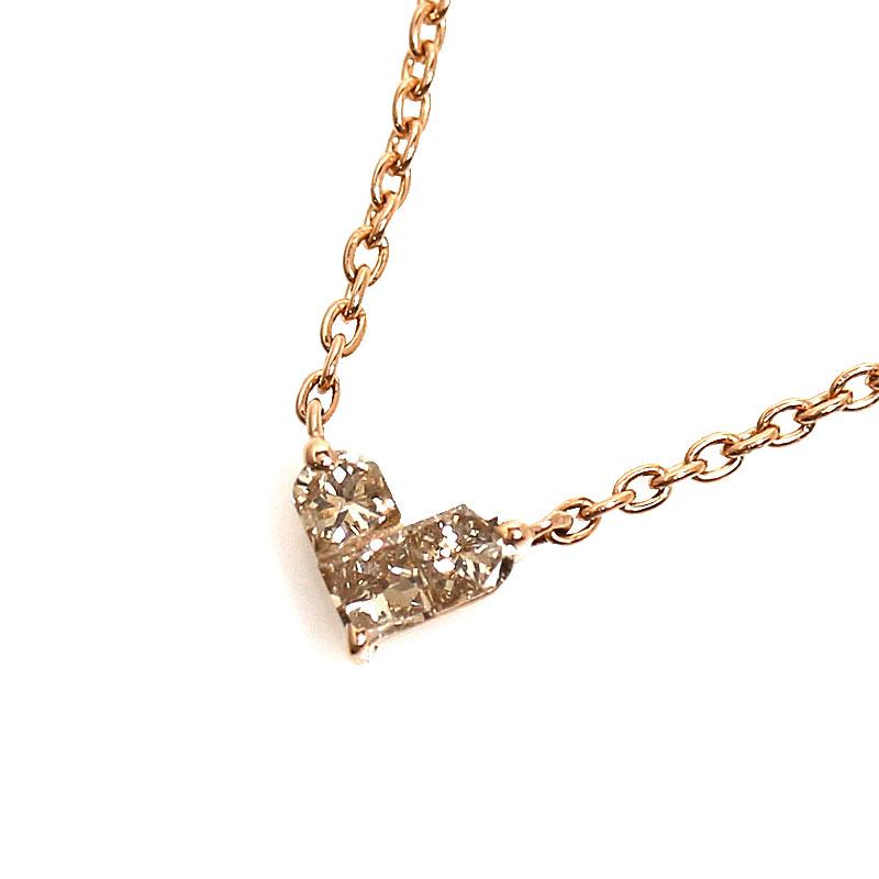スタージュエリー STAR JEWELRY ミステリアスハート ネックレス K18PG ダイヤモンド ペンダント レディース アクセサリー【中古】