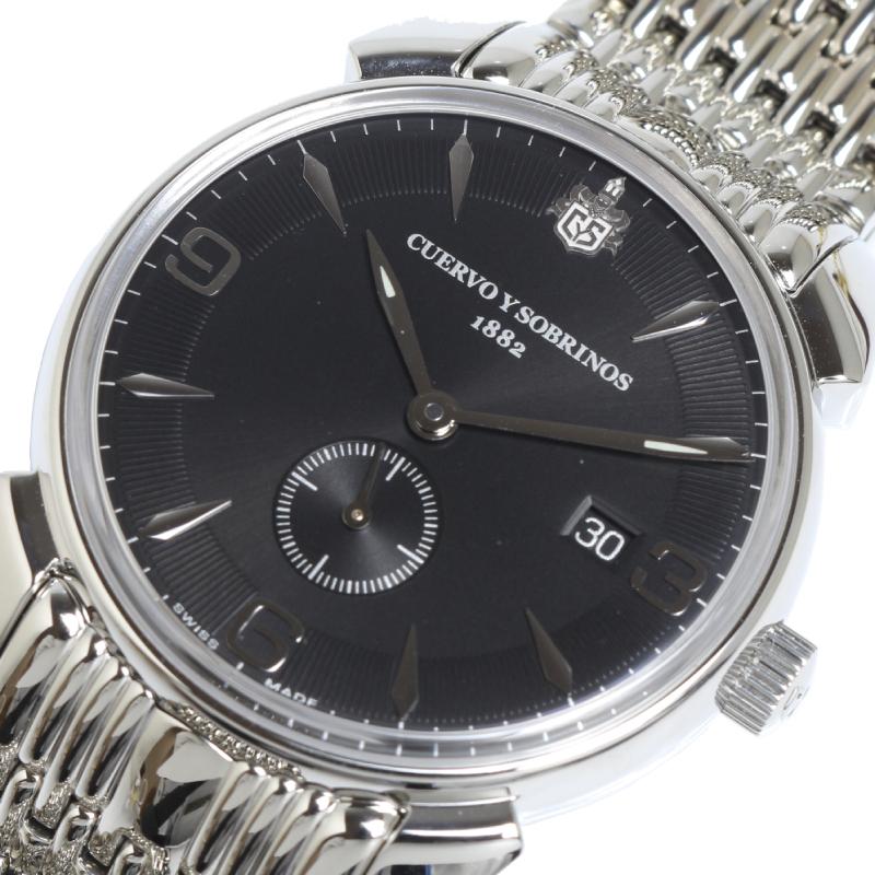 クエルボ イ ソブリノス 腕時計 メンズ 休日 送料無料 ペキニョスセゴンドス ヒストリアドール 3191B-1VNS 中古 並行輸入品