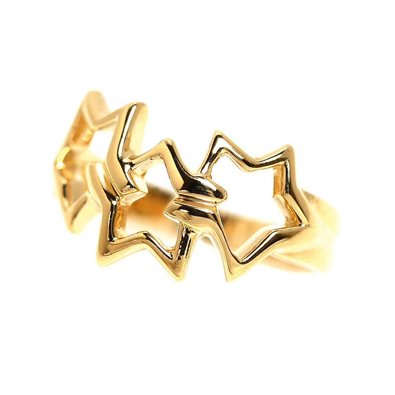 ティファニー TIFFANY&CO トリプルスター リング K18YG 指輪 レディース ジュエリー アクセサリー【中古】