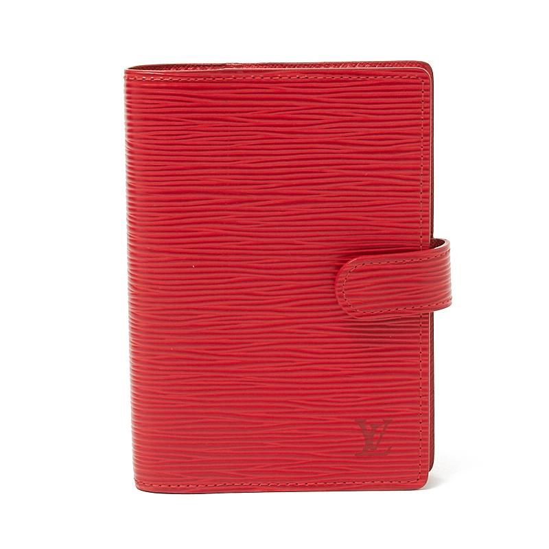 ルイ・ヴィトン LOUIS VUITTON アジェンダPM R20057 スカーレット レディース 手帳カバー【中古】
