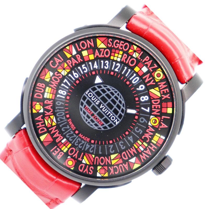 人気大割引 【10%OFF】ルイ LOUIS・ヴィトン メンズ LOUIS VUITTON エスカル 2018年日本限定 タイムゾーン PVD 2018年日本限定 Q5D23 自動巻き メンズ 腕時計【】, 港区:7c2de30d --- baecker-innung-westfalen-sued.de