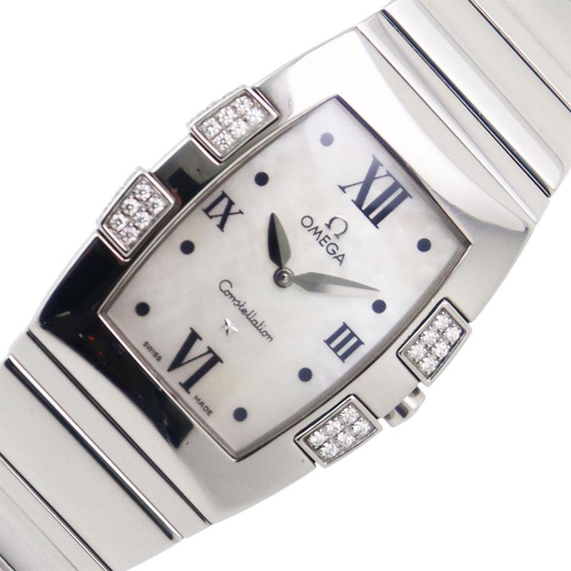 オメガ 腕時計 レディース 送料無料 OMEGA コンステレーション クアドレラ クオーツ 1586.70.00 年間定番 クォー?ツ 中古 ふるさと割