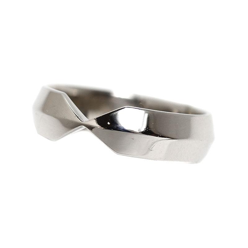 ティファニー TIFFANY&CO ネスティング ワイド バンドリング プラチナ 指輪 ジュエリー アクセサリー【中古】