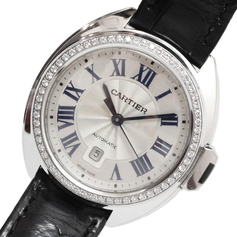 カルティエ 腕時計 レディース 迅速な対応で商品をお届け致します 送料無料 Cartier クレドゥカルティエ クオーツ 中古 WJCL0014 アイボリー 代引き不可