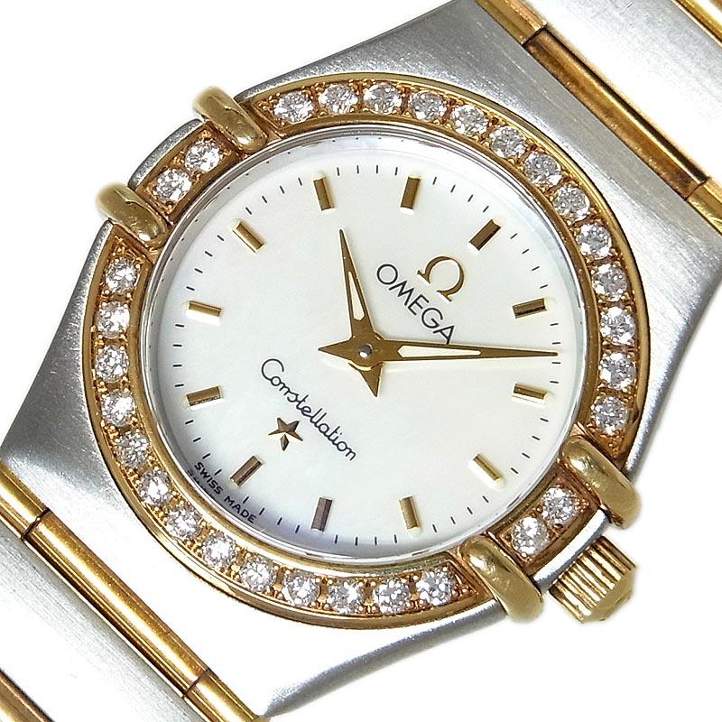 オメガ 腕時計 レディース 送料無料 OMEGA コンステレーション クオーツ お見舞い 中古 ミニ 1267.70.00 ダイヤベゼル 卸直営