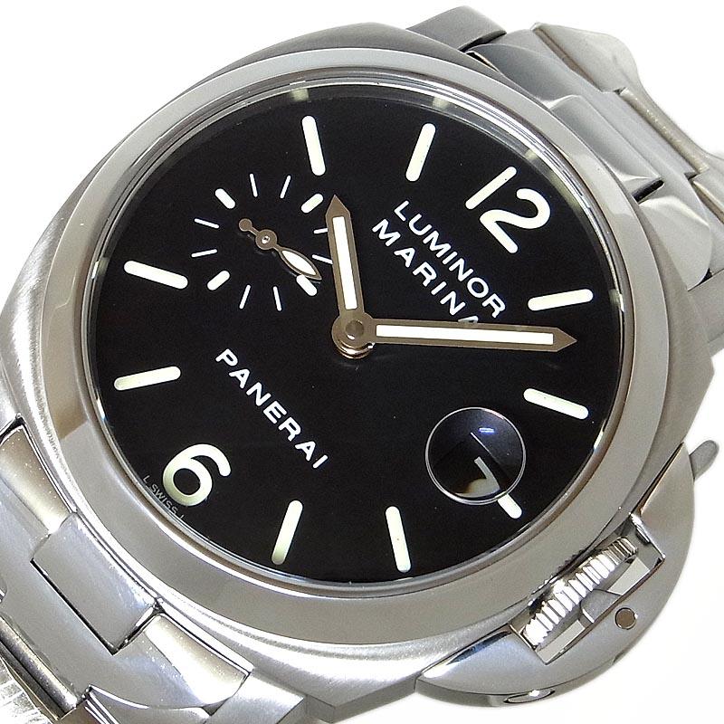 パネライ 腕時計 メンズ 送料無料 訳あり商品 買物 PANERAI 自動巻き ルミノール マリーナ PAM00050 中古