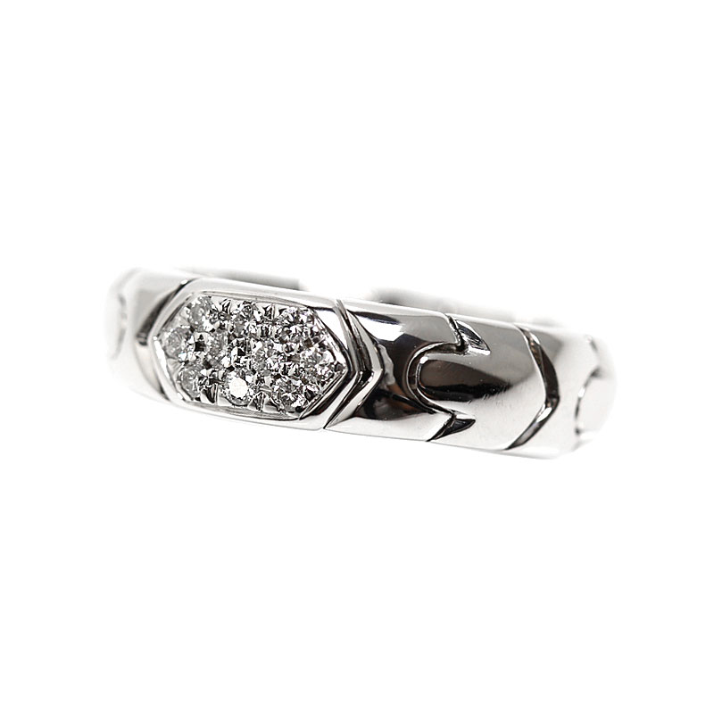 ブルガリ BVLGARI アルベアーレ リング K18WG ダイヤモンド 指輪 レディース ジュエリー アクセサリー【中古】