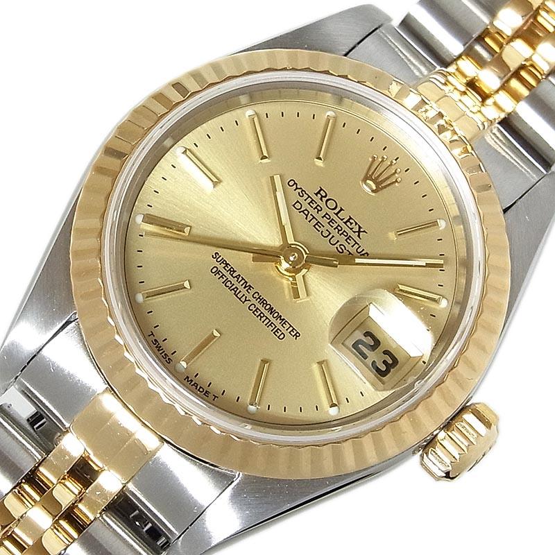 ロレックス 腕時計 レディース 送料無料 ROLEX 79173 毎日激安特売で お買い得 営業中です A番 中古 自動巻き デイトジャスト
