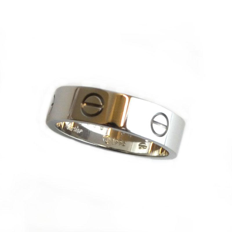 カルティエ リング トレンド 指輪 売れ筋ランキング メンズ 送料無料 Cartier 中古 K18WG ジュエリー 22 ラブリング