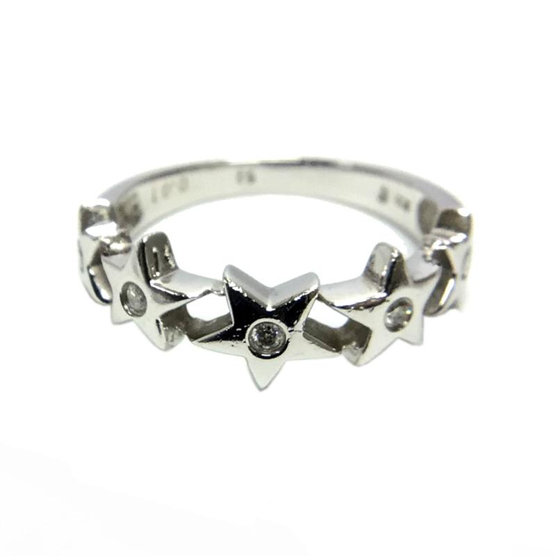 リング 指輪 レディース ブランド激安セール会場 送料無料 ジュエリー ダイヤリング 中古 K18WG 豊富な品