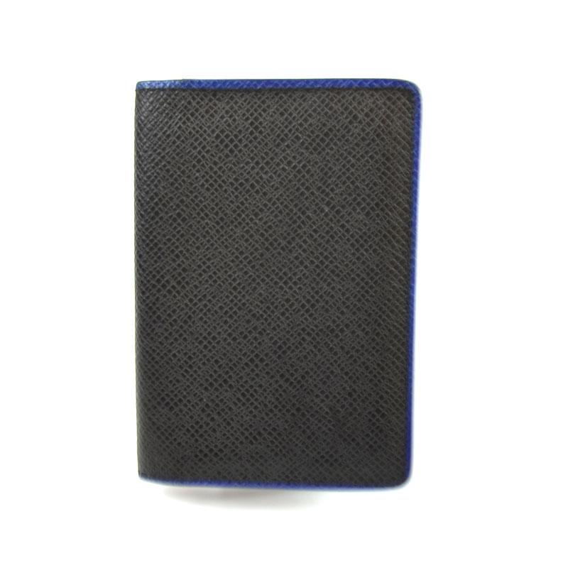 ルイ ヴィトン カードケース メンズ 送料無料 LOUIS お中元 中古 M30550 ブラック ネイビー オーガナイザードゥポッシュ VUITTON 無料