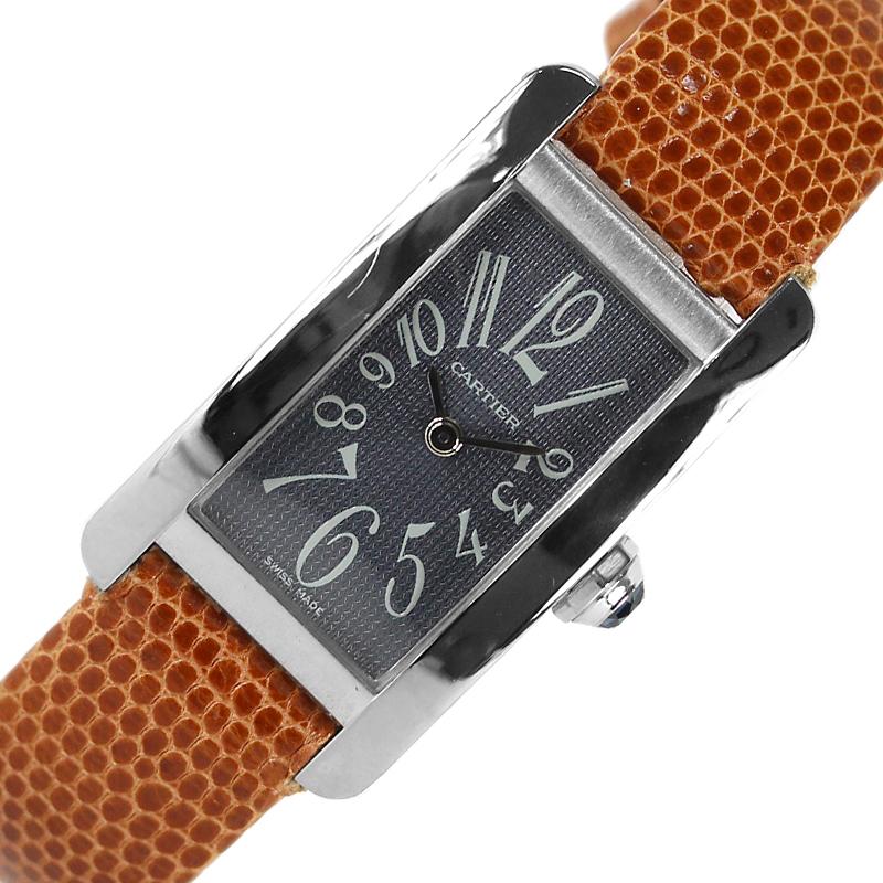 驚きの価格 カルティエ Cartier タンクアメリカンSM クオーツ レディース 腕時計【】, 激安通販 e6d90448